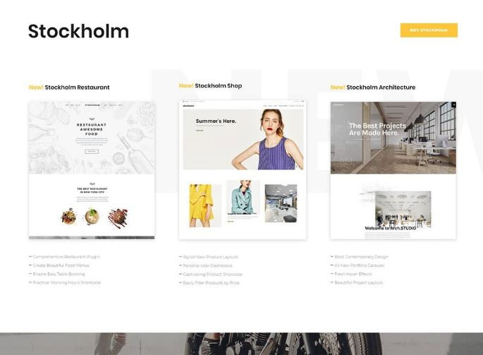 Stockholm - theme wordpress đẹp