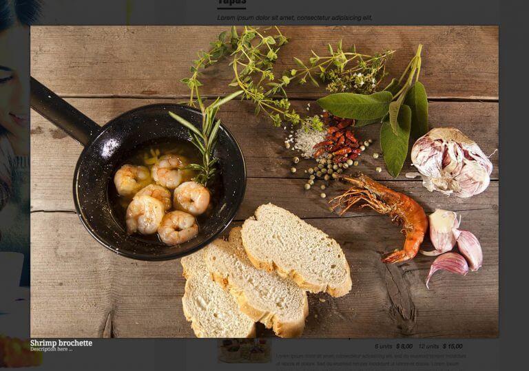 Website nhà hàng Quick Restaurant Menu